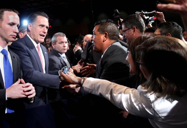 GOP presidential contender Mitt Romney addresses  attendees at the National Association of Latino Elected and Appointed Officials conference, Thursday, June 21, 2012, at the Contemporary Resort at Walt Disney World, in Lake Buena Vista, Fla.