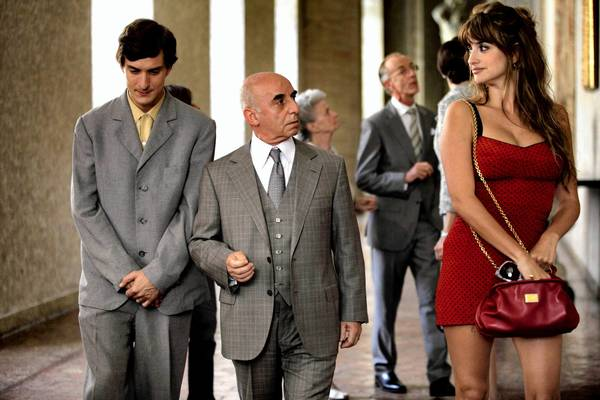 "Alessandro Tiberi, left, Roberto Della Casa and Penélope Cruz in ""To Rome With Love."""