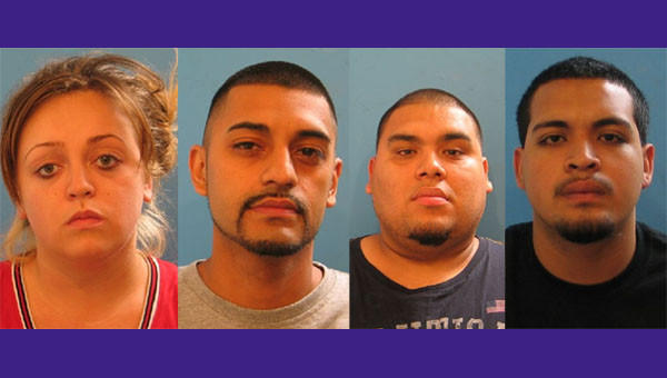 Nadia Palacios, 22, Roberto Guzman, 24, Eric Castillo, 24 and Jose Horta, 19, have been charged with murder.