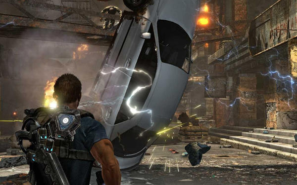 "<i>Xbox 360, PlayStation 3</i> <br><b>2 stars out of 4</b> <br>It may seem like third-person, cover-based shooters are released every other week on consoles, but ""Inversion"" tries to separate itself from the pack with gravity control. A stolen alien technology essentially allows you to reduce or increase the gravitational pull of a selected area, meaning objects such as support beams, barrels or even other people are thrown into the air in a state of weightlessness or slammed to the ground. There even are times when a gravity pool causes chaos as some firefights take place on the ceiling instead of the floor. (Lionel Richie would approve.) However, if you're going to be a one-trick pony, it better be a damn good trick, and ""Inversion's"" gimmick isn't quite good enough to make up for the mediocrity of the rest of the game."