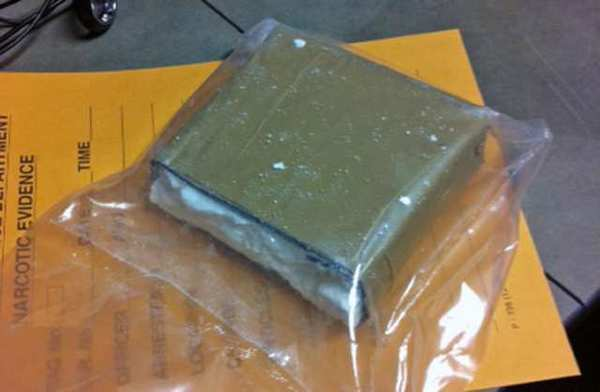 Photo of seized half-kilo of cocaine.