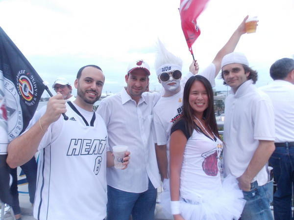Heat fans fired up before Game 5 of the NBA Finals