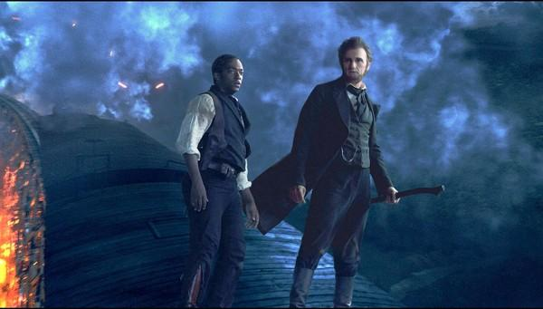 "Anthony Mackie, left, and Benjamin Walker as Abraham Lincoln in ""Abraham Lincoln: Vampire Hunter."""