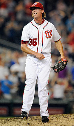 Nationals right-hander Tyler Clippard, pictured, is filling in nicely for injured closer Drew Storen through the first half of the season. Clippard has a 2.01 ERA and 11 saves in 12 chances in 2012. Left-handed relief pitcher Sean Burnett has only given up three earned runs in 30 appearances (25 innings) so far this season.
