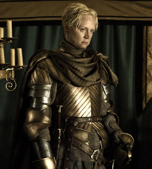 Badass Babes of TV and Movies: From 'Brave' to 'Game of Thrones': Rambunctious role: On Game of Thrones, Christie is the sword-wielding Brienne of Tarth, a complex character full of honor. And also kick-butt fighting skills.  Rough Resume: Before Game of Thrones, Christie had hardly acted in anything, so its excellent this role came along and put her 63 frame to good use.