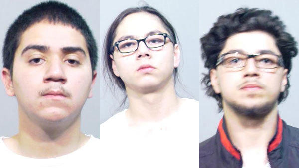 Left to right: Ventura Lechuga, 20, Brandon Medrano, 18, and Matthew Medrano, 20.