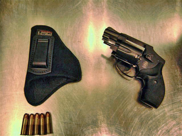 A passenger was cited after this .38 caliber Smith & Wesson revolver loaded with five rounds was detected during a checkpoint screening at Miami International Airport (MIA).