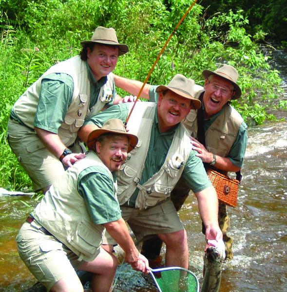 Four Man Fishin' Tackle Choir peforms Saturday, June 23, in Mackinaw City.
