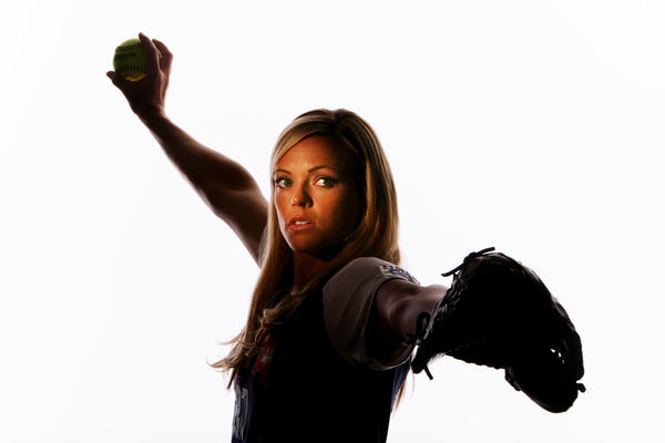 Jennie Finch, an Olympic medal-winning softball player, gained confidence from sports.