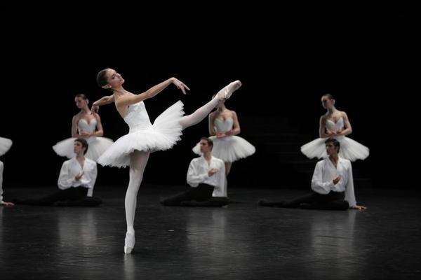 Dorothee Gilbert in Paris Opera Ballet's Suite en Blanc.