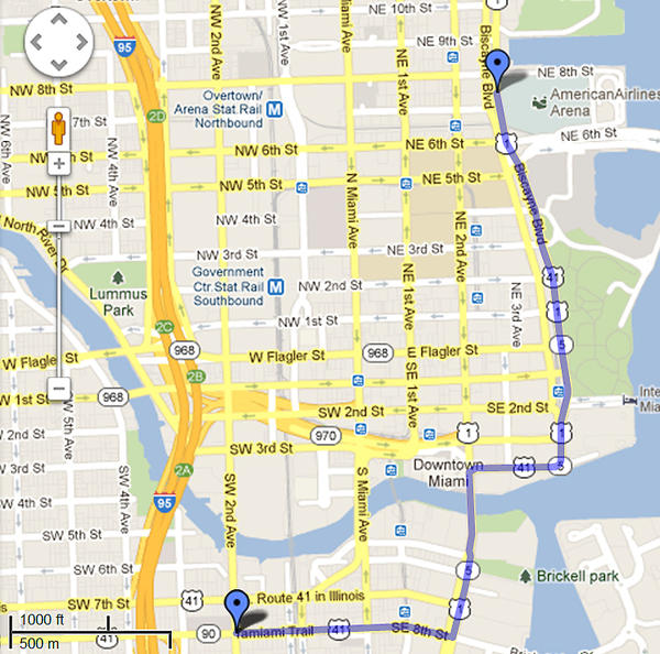 Miami Heat Parade route