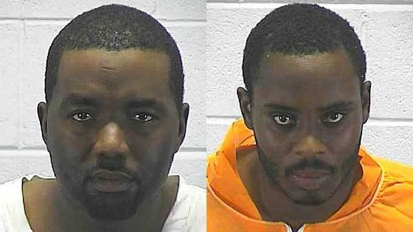 Booking photos of Kevin Jones, left, Michael Pitchford.