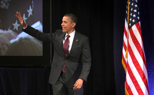President Barack Obama addresses the National Association of Latino Elected and Appointed Officials conference, Friday, June 22, 2012, at the Contemporary Resort at Walt Disney World, in Lake Buena Vista, Fla..