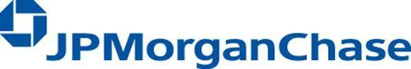 Official logo for major U.S. bank JPMorgan Chase.