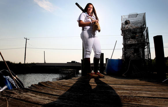 Poquoson pitcher Maggie Tyler of the softball player of the year for the Daily Press.