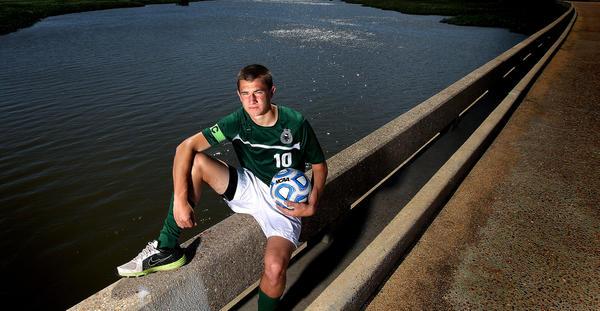 Patrick Kelly of Jamestown High is the Daily Press soccer player of the year for 2012.