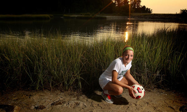 Nicolette Young of Jamestown High is the female soccer player of the year for the Daily Press.