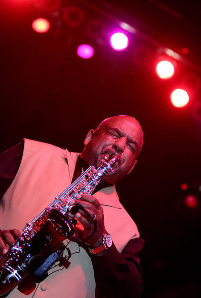 Gerald Albright does a sax solo as the second act Friday at Hampton Jazz Festival at the Hampton Coliseum.