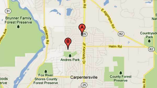 Two shooting locations in Carpentersville