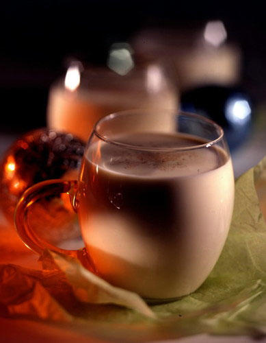 Verify whether eggnog has pasteurized eggs and contains no alcohol. Don't drink eggnog with unpasteurized dairy products.
