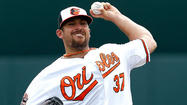 Orioles left-hander Dana Eveland waiting for baby call