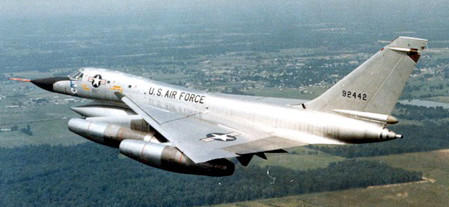 A B-58 Hustler like this one crashed near McKinney in 1966.