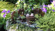 Pam Shank of Harrisonburg designs landscapes in miniature.