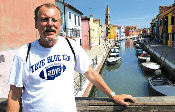 Larry Vaught in Italy
