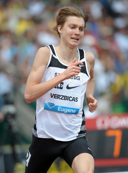 Lukas Verzbicas in action at the 2011 Prefontaine Classic in Eugene, Ore.