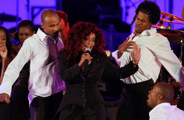 Chaka Khan performs at the Hollywood Bowl for the opening night of the 2012 season.