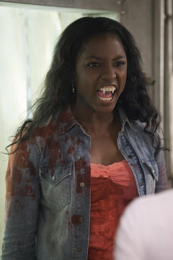 Tara (Rutina Wesley) is not having a good night.