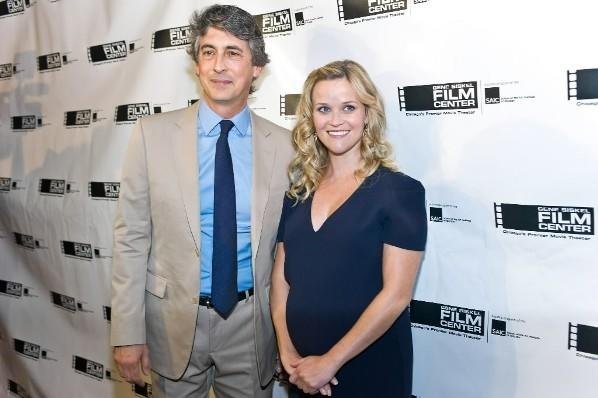 Director Alexander Payne (left) and actress Reese Witherspoon (right) at the Gene Siskel Film Center gala at the Ritz-Carlton hotel June 23, 2012.