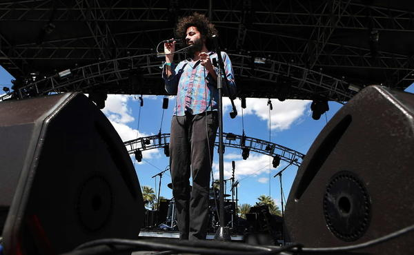 Daniel Bejar performs with Destroyer at the Coachella Valley Music and Arts Festival in April.