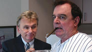 "Pat Sajak's (left) been a part of our lives since the heyday of ""Wheel of Fortune"" in the '80s. (Many of us fondly remember Martin Short's ""SNL"" fascination with him as well.) He's in Connecticut playing neat-freak Felix Unger against Joe Moore's (right) Oscar Madison in Connecticut Repertory Theatre's production of Neil Simon's ""The Odd Couple."" After the broken-hearted Felix gets tossed out by his wife, the mismatched pair (Oscar's a slob) end up living together in a single apartment, where they interact comically with four poker buddies and two British divorcees living above them. (True story: Sajak and Moore became real-life friends during a tour of duty in Vietnam.)"