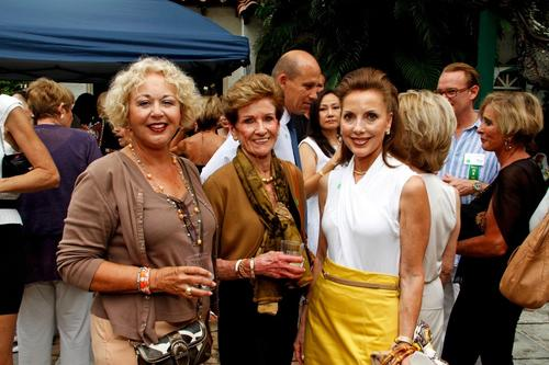 Ginny Coyle, left, Ellen Daniel and Ali DiNovo at a reception hosted by the Arthur R. Marshall Foundation, which took place at Via Flora located in Palm Beach. To see more photos from Society Scene's Palm Beach edition, visit www.Facebook.com/SocietyScene.