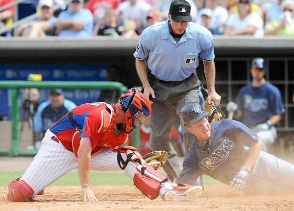 Philadelphia Phillies catcher Brian Schneider was sent to the 15-day disabled list Monday because of a sprained ankle.
