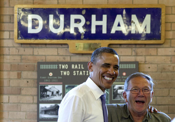 President Obama campaigns in Durham, N.H.