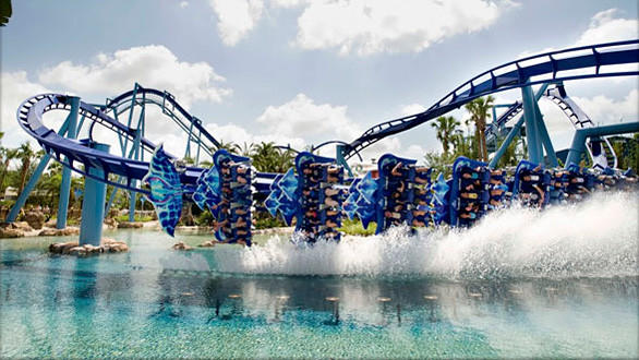 "The flying Manta at SeaWorld Orlando competes in the Hang 'em High category on the Travel Channel's ""Insane Coaster Wars."""