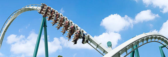 "The inverted Alpengeist at Busch Gardens Williamsburg competes in the Hang 'em High category on the Travel Channel's ""Insane Coaster Wars."""
