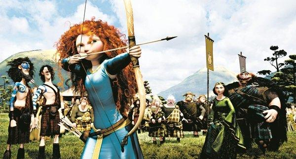 "A scene from the Pixar movie ""Brave."""