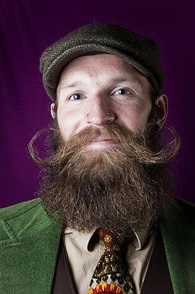 Shawn Hasson won third place in the groomed beard category.