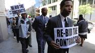 Rally for Metra contracts