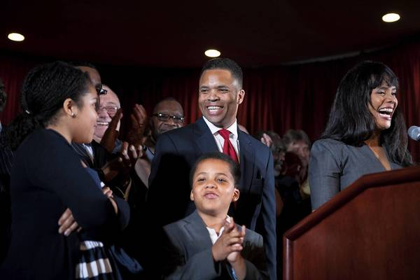 The Jackson family attends an election-night party for U.S. Rep. Jesse Jackson Jr., 2nd Congressional District of Illinois at Parkway Ballroom in Chicago.