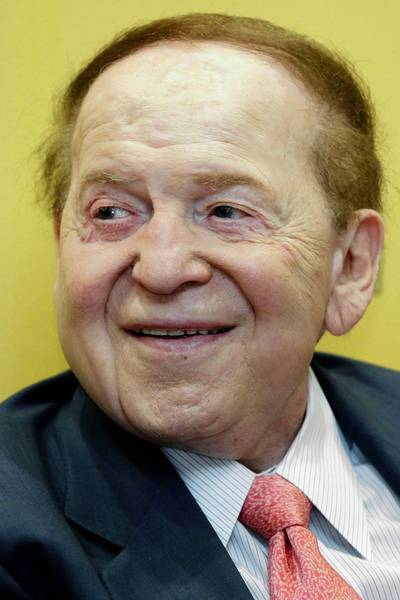 Sheldon Adelson, chairman and chief executive officer of Las Vegas Sands Corp., gave more than $20 million to a super PAC. But his favored candidate did not win the Republican nomination.