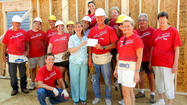 Sellgren Financial Group of Wells Fargo Advisors LLC recently donated $10,000 to Washington County's Habitat for Humanity chapter.
