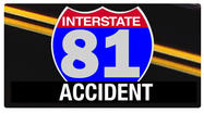 A woman was thrown from a vehicle in an accident on Interstate 81 in Roanoke County on Tuesday morning.