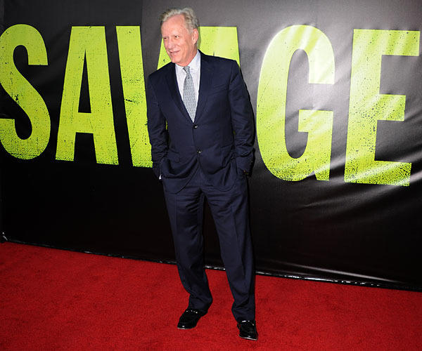 "James Woods arrives for the premiere of ""Savages."""