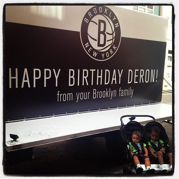 The Brooklyn Nets wish Deron Williams happy birthday.