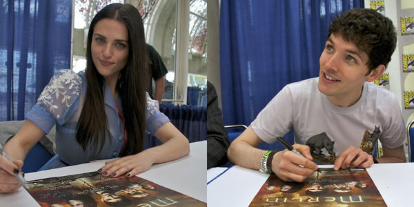 Katie McGrath and Colin Morgan will return to San Diego Comic Con in July.