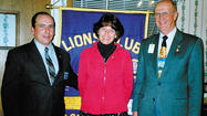 Tina Davis was inducted as the newest member of the Smithsburg Lions Club.